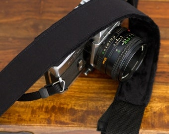READY to SHIP SLR Camera Strap - Solid Black
