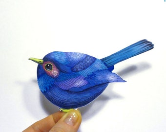 Blue bird sticker // SALE 3 for 2 // 100% waterproof vinyl label.