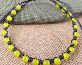 Summer Knot Bracelet with Lemon Quartz Beaded