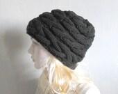 Winter Hat Knit Hat Slouchy Beanie Beanie Black Hat  Beret Slouchy Hat Women Hat Oversized Hat Chunky Knit Hand Knit Hat Women knit Hat