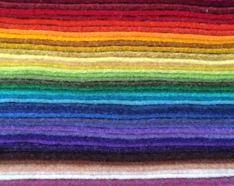 CLEARANCE 50 8x8 Folded felt Sheets-Wool Blend Felt-FREE SHIPPING