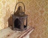 Rusty Tin Lantern in miniature