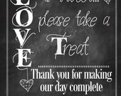 LOVE is Sweet...take a treat. DIY Printable Chalkboard Sweet/Candy Buffet Table Sign