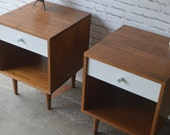 Pair of Wakefield Nightstands with drawers - Solid Walnut - custom for Jennifer
