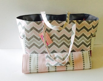 MADE TO ORDER Bella Diaper Bag set, waterproof lining, changing pad, magnetic closure