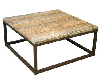 Reclaimed wood coffee table - SALE - 60% Off