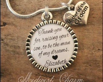 Mother of the Groom necklace...925 sterling silver plated...foster mom...grandma...mom necklace