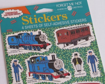 Thomas The Tank Engine Train Vtg Sticker Pack 4 Sheets New Pkg 40 Stickers 1991