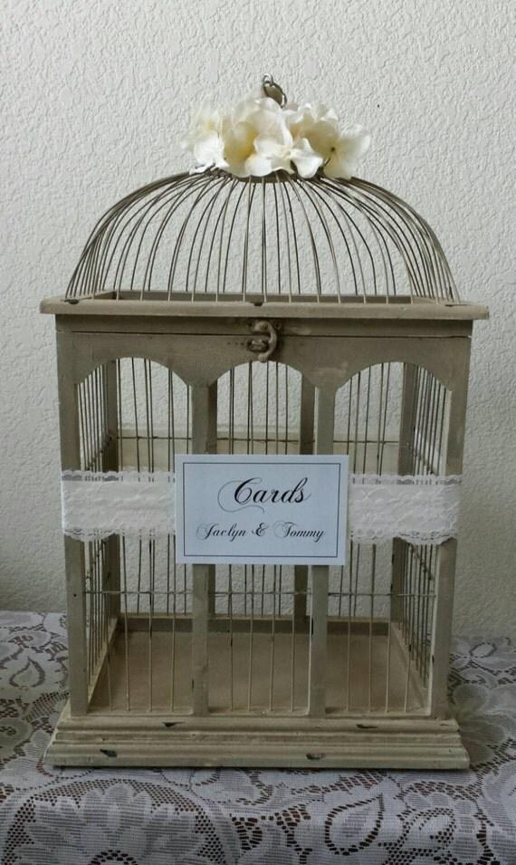 xl rustic wooden bird cage wedding cardmeghanstonedesigns