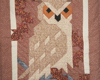 OWL, Great Horned QUILT Pattern