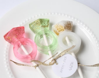 Ring Bling Lollipops 8 pieces