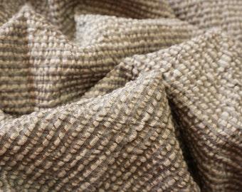 Linen-Wool - natural- stripes-last meters 1.7m