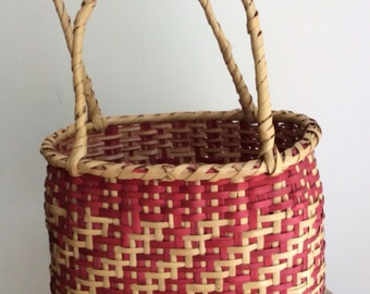Choctaw basket with two handles