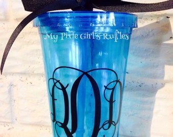 Monogrammed/Personalized 16 ounce Double Wall Tumbler