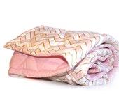 Pink Chevron Baby Girl Blanket -Crib Blanket - Toddler Blanket - soft pink gold - glittery gold pink chevron
