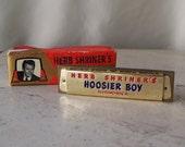 Vintage Harmonica Herb Shriner's Hoosier Boy Made in Germany Musical Instrument 1950s