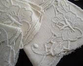 Seven Vintage Tea Napkins Towels Cotton Linen Towels Madeira Linens Vintage Linens Kitchen Whitework Embroidery 112