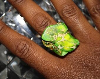 Green Jasper Ring by ChoklatTea