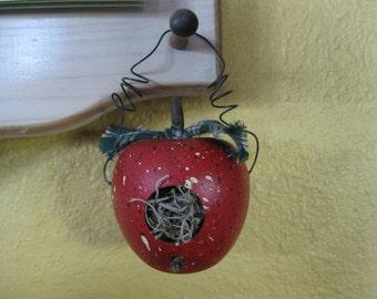 Teacher Appreciation gift -Small  Apple Bird House- Teachers gift- Mothers Day Gift- Wooden Apple Birdhouse- Decorative Apple Birdhouse