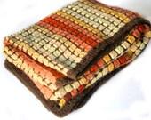 60s Blanket Throw, Crochet Throw, Crochet  Baby Blanket