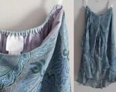 90s ANNA SUI silk ruffle layered chiffon skirt, size 6