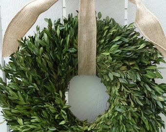 Dried Boxwood Wreath  Wedding Decor    Boxwood Wreath   Natural Boxwood Wreath  Hand Crafted Wreath   Wedding Wreath