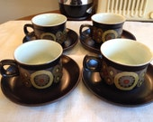 Reserve listing for Jamillah Denby 6- Cup and saucer set(s)