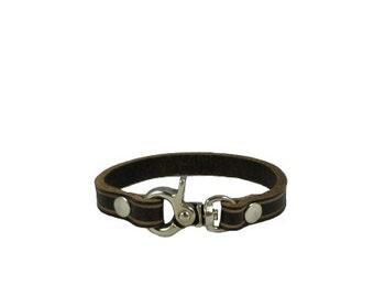 Leather wrist cuff, leather wrist band, cuff, wrist band, bracelet, natural,  leather, handmade, Melbourne, Australia, nickel hardware