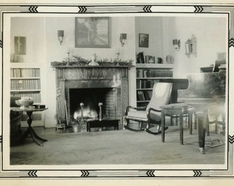 "Vintage Photo ""The Cozy Chamber"" House Home Decor Snapshot Photo Old Antique Photo Black & White Photograph Found Photo Paper Ephemera - 18"