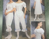 Uncut Simplicity pattern 9769 Misses Civil War / Edwardian / Victorian Undergarments sewing pattern Size 6 - 12 Fashion Historian Collection