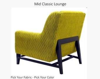 Mid Classic Custom Lounge Chair Select your fabric Home Decor Velvet
