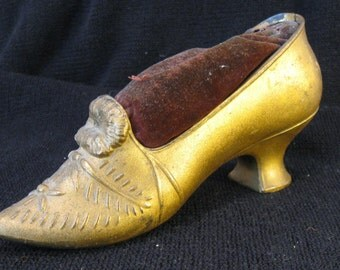 Antique Pin Cushion - Victorian Shoe