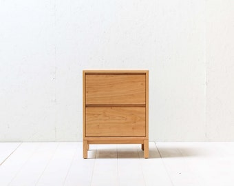 Solid Cherry Berkeley Nightstand / Bedside Table - Two Drawers - Available in other woods