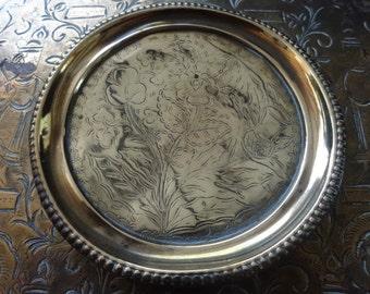Vintage Welsh Scottish English Clover Thistle Rose Dish Bowl Catch-all Trinket Jewellery Jewelry circa 1950-60's / English Shop