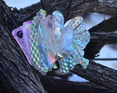 Fused Dichroic Glass Jewelry Pendant - Shimmering Tropical Fish