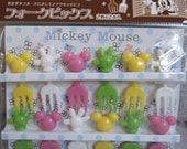 12 Pieces Cute Disney Micky Mouse Food Picks From Japan