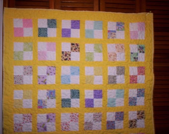 Old Fashion 4-Patch' Crib Quilt