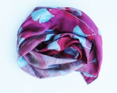 jade and wine silk scarf
