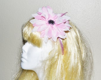 PICK a COLOR Headband, Floral, Large CLear Rhinestone, Girl Hair Accessory, FREE U S A Shipping