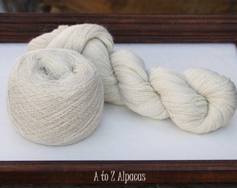 Royal Baby Alpaca Yarn Lace Weight in Natural White 837 yards
