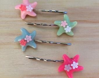 Adorable starfish hair pins