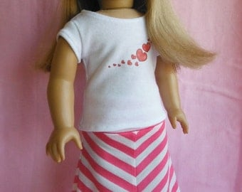 18 inch Doll Clothes, Fits American Girl, Doll Skirt, 18 inch doll skirt - Maxi Skirt