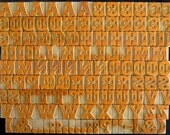 Free Shipping - A to Z, Punctuation Marks 118 No's Designer Letterpress Wooden Letters Complete Set for Printing- VG125