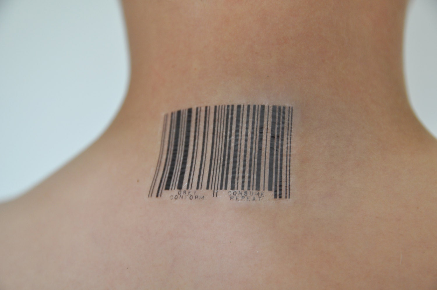 barcode temporary tattoo quirky temporary tattoo tattoo. Black Bedroom Furniture Sets. Home Design Ideas