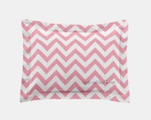 Rectangle Pillow Cover - Pink Chevron - Lily, Savannah, Elizabeth, Emery, Annabelle, Charlotte, Sadie - R1