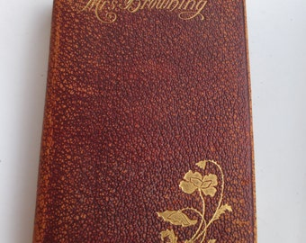 Antique Poetry Book Mrs. Browning Poems 1856 Elizabeth Barrett Browning