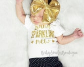 Brand Sparkling New Baby Girl Clothes Baby Shower Gift Hipster Baby Clothes Baby Girl Shirt Baby Girl Bodysuit Gold Glitter Shirt 105