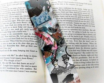 Upcycled bookmarks, OOAK bookmarks, Unique Handmade Mustache Bookmark Eco Friendly, Painted Bookmark, Man Gift, Acrylic Paint Bookmark