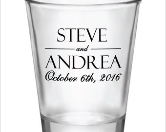 216 Personalized Wedding Favor 1.5oz Shot Glasses Custom Wedding Favors