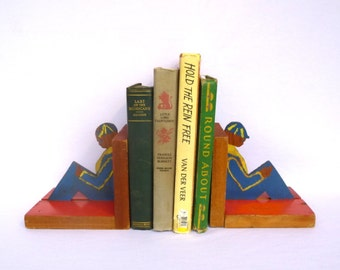 Primitive CUB SCOUT BOOKENDS
